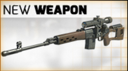New weapon in the shop: the legendary Dragunov SVD